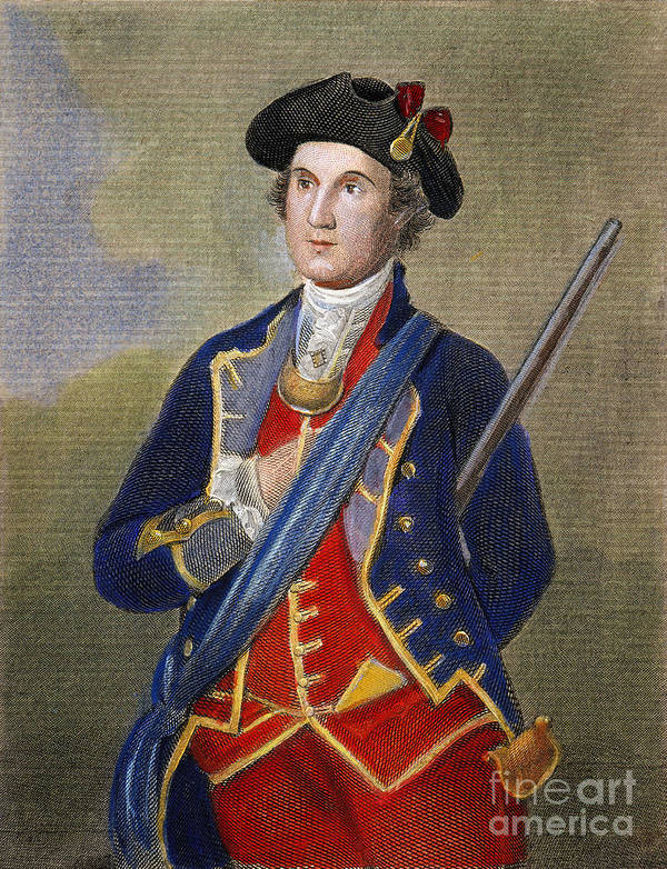 1772 Poster featuring the photograph George Washington by Granger