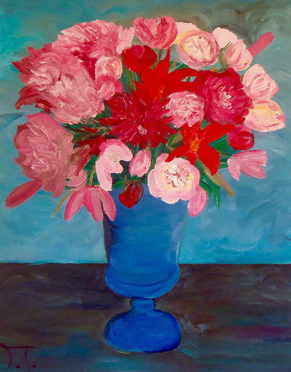 Floral Flowers Poster featuring the painting Floral by Troy Thomas