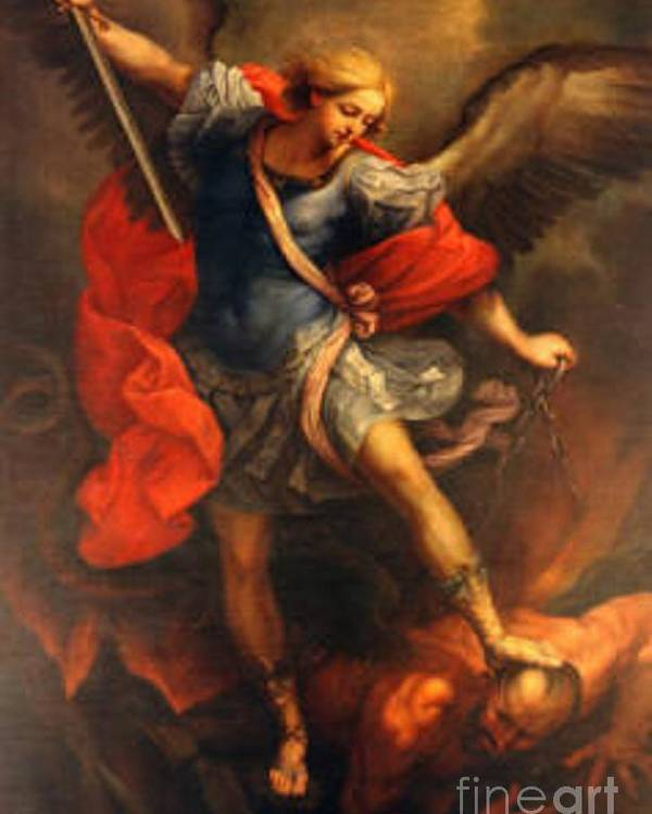 Icon Poster featuring the painting Saint Michael by Archangelus Gallery
