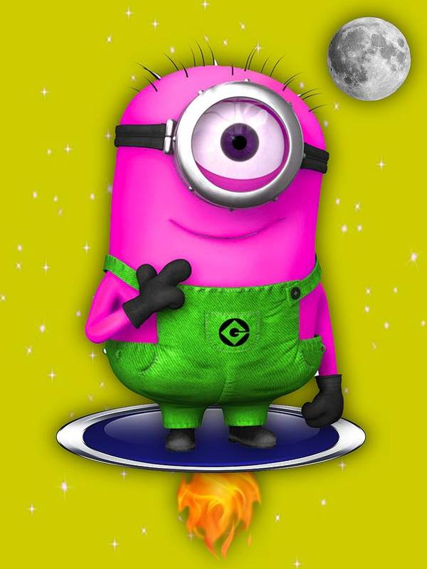Minion Poster featuring the mixed media Minions Collection by Marvin Blaine