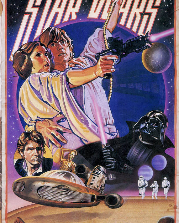Star Wars Episode Iv A New Hope 1977 Poster By Geek N Rock