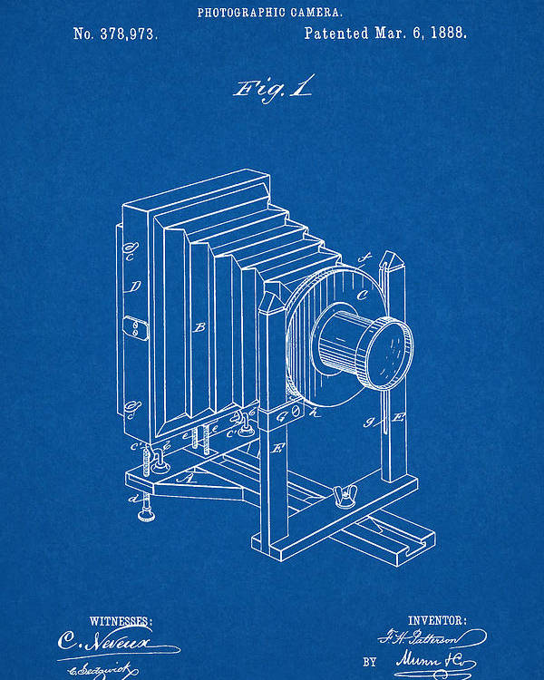 1888 camera us patent invention drawing blueprint poster by todd aaron patent poster featuring the digital art 1888 camera us patent invention drawing blueprint by todd malvernweather Images