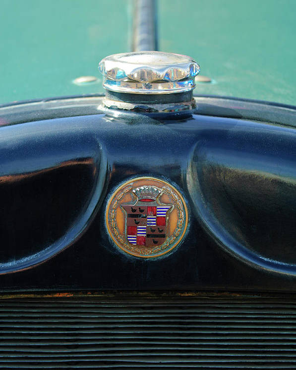 1925 Cadillac Poster featuring the photograph 1925 Cadillac Hood Ornament And Emblem by Jill Reger