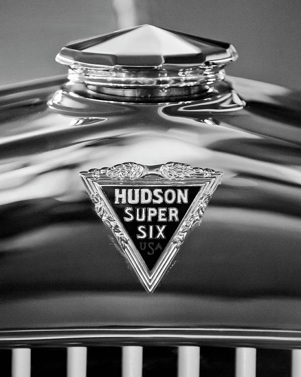 1929 Hudson Cabriolet Poster featuring the photograph 1929 Hudson Cabriolet Hood Ornament 2 by Jill Reger