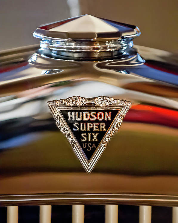 1929 Hudson Cabriolet Poster featuring the photograph 1929 Hudson Cabriolet Hood Ornament by Jill Reger