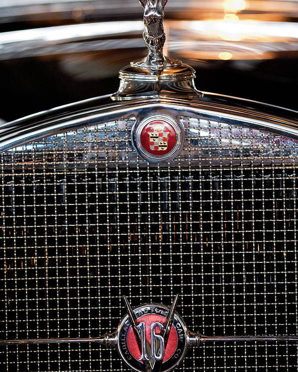 1930 Cadillac Roadster Poster featuring the photograph 1930 Cadillac Roadster Hood Ornament 3 by Jill Reger