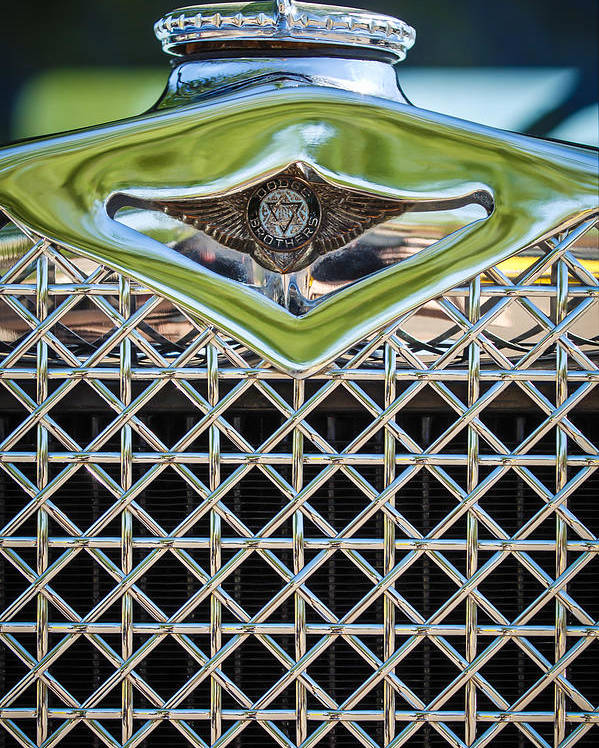 1930 Dodge Grille Emblem Poster featuring the photograph 1930 Db Dodge Brothers Hood Ornament And Grille by Jill Reger