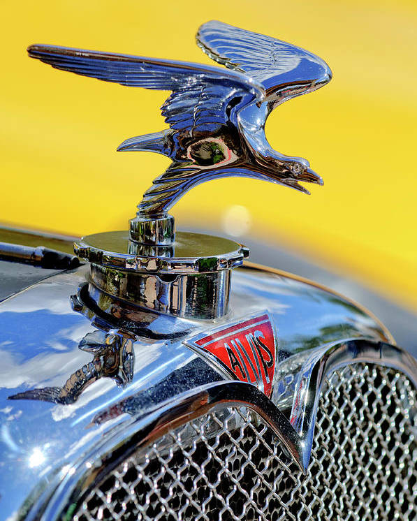 1932 Alvis Poster featuring the photograph 1932 Alvis Hood Ornament by Jill Reger