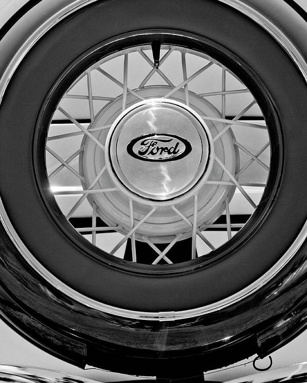 1934 Ford Roadster Poster featuring the photograph 1934 Ford Roadster Spare Tire 2 by Jill Reger