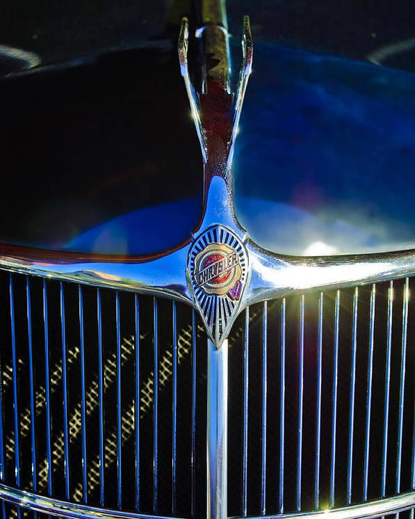 1935 Chrysler Poster featuring the photograph 1935 Chrysler Hood Ornament 2 by Jill Reger