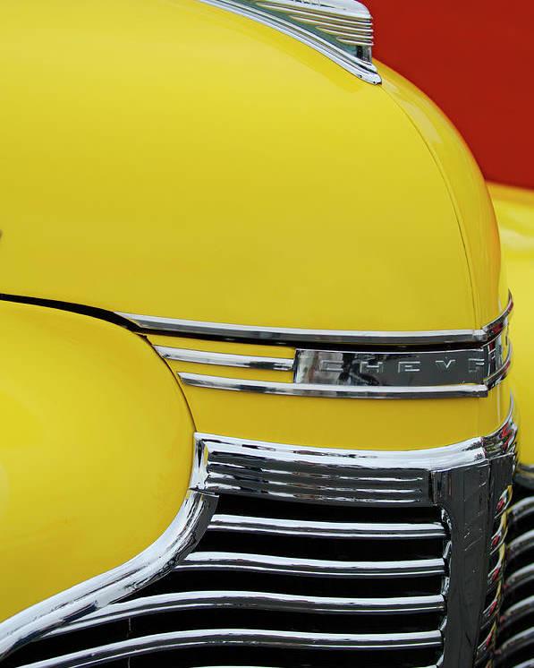 1941 Chevrolet Sedan Poster featuring the photograph 1941 Chevrolet Sedan Hood Ornament 2 by Jill Reger