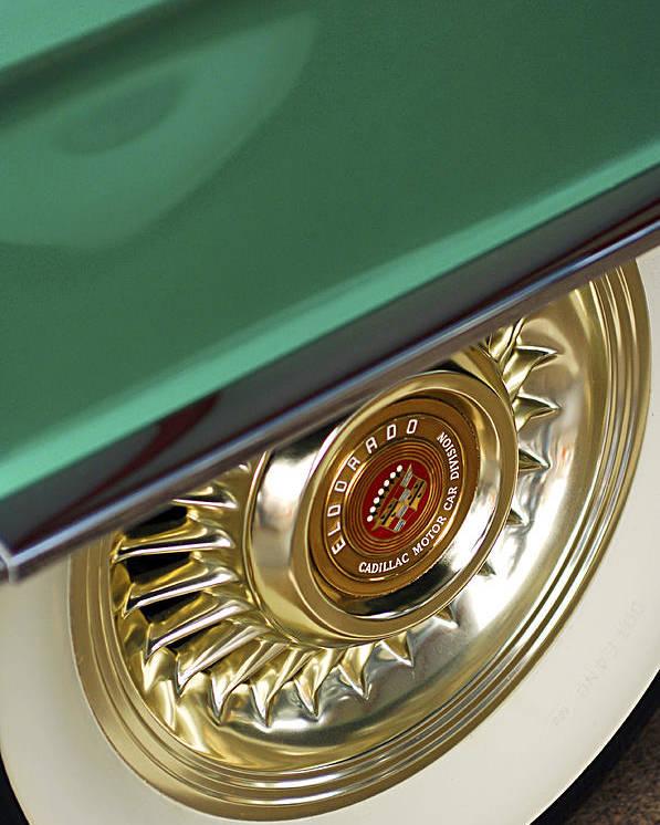 1956 Cadillac Eldorado Poster featuring the photograph 1956 Cadillac Eldorado Tire by Jill Reger
