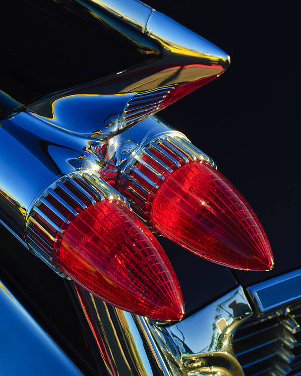 1959 Cadillac Eldorado Poster featuring the photograph 1959 Cadillac Eldorado Tail Fin 3 by Jill Reger