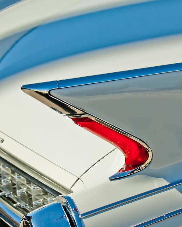 1960 Cadillac Eldorado Biarritz Poster featuring the photograph 1960 Cadillac Eldorado Biarritz Convertible Taillight by Jill Reger