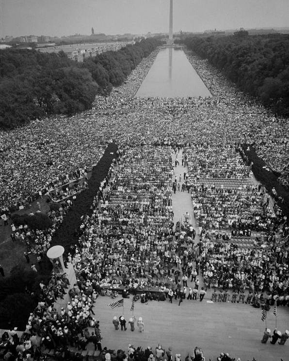 History Poster featuring the photograph 1963 March On Washington, At The Height by Everett