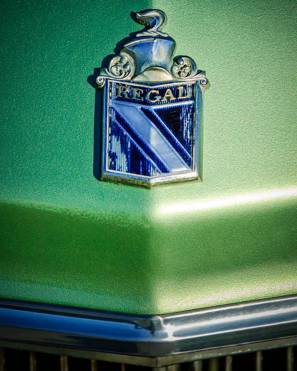 1973 Buick Regal Poster featuring the photograph 1973 Buick Regal Hood Ornament by Jill Reger