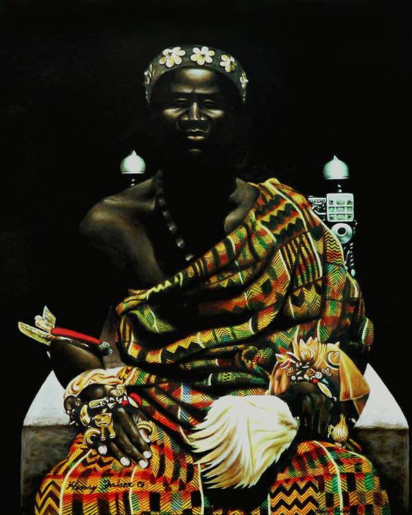 African Poster featuring the painting African Prince by Henry Frison
