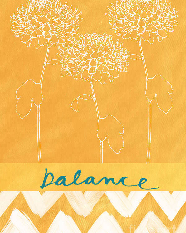 Balance Poster featuring the painting Balance by Linda Woods