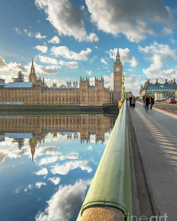 Big Ben Poster featuring the photograph Big Ben London by Adrian Evans