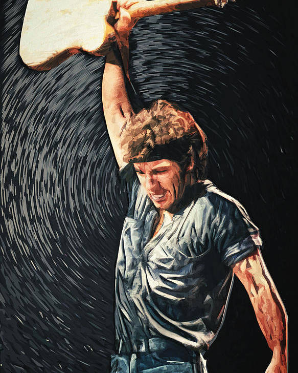 Bruce Springsteen Poster featuring the digital art Bruce Springsteen by Zapista OU