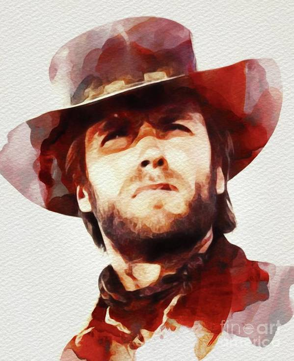 Clint Eastwood, Hollywood Legend by Esoterica Art Agency