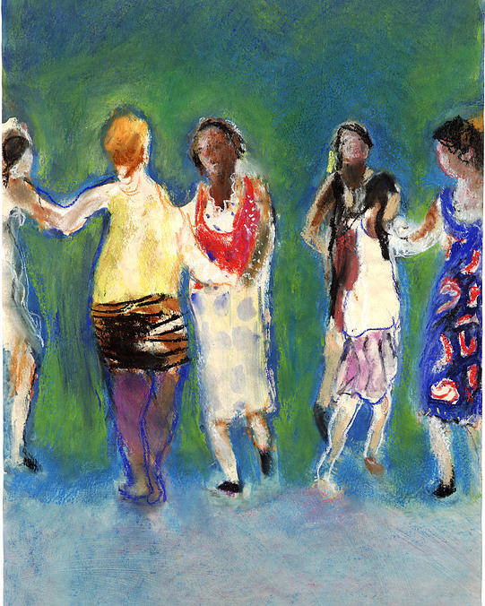 Dancers Poster featuring the painting Dancers by Bill Collins