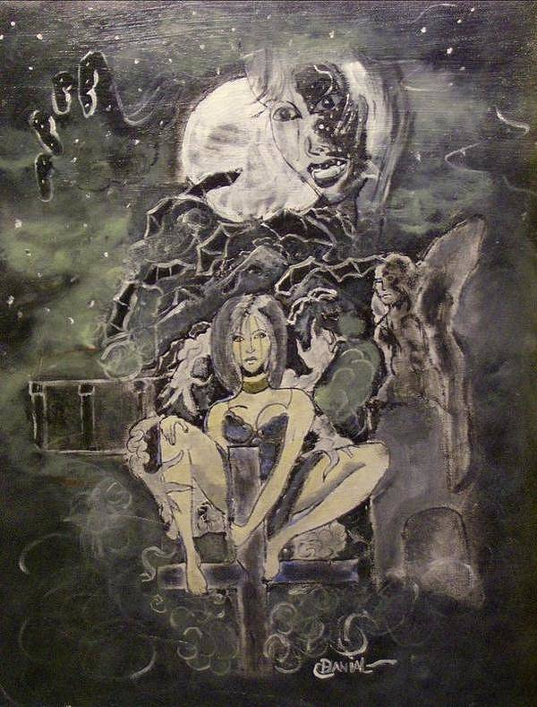 Fantasy Poster featuring the painting Dark Religion by Danial Mcclinton