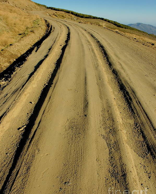 Alpujarra Poster featuring the photograph Dirt Road Winding by Sami Sarkis