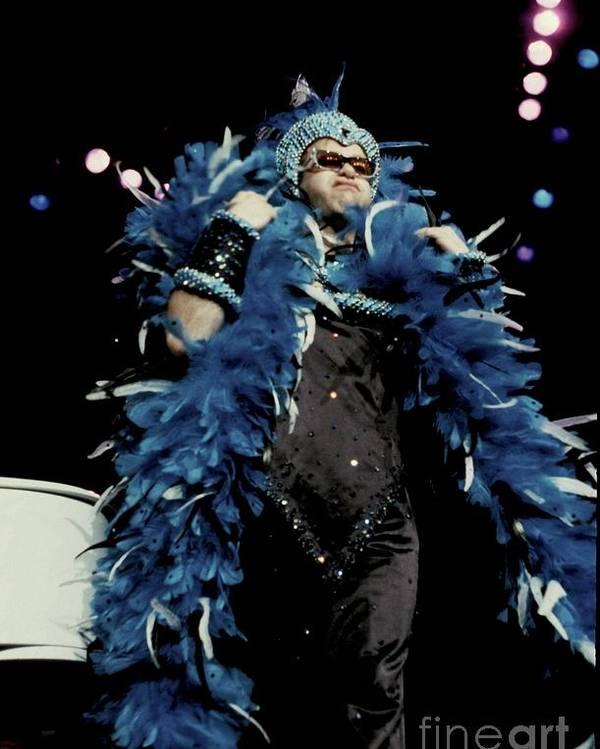 Concert Poster featuring the photograph Elton John by Concert Photos