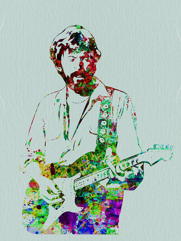 Poster featuring the painting Eric Clapton by Naxart Studio
