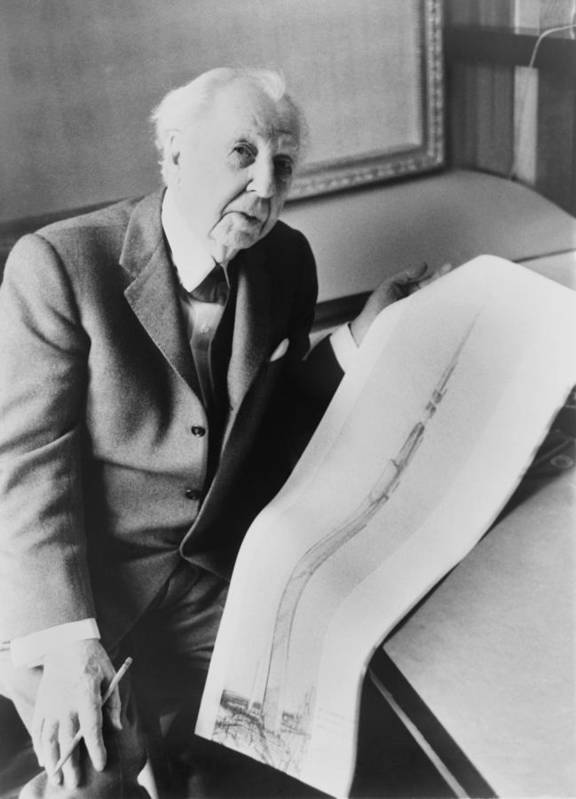 History Poster featuring the photograph Frank Lloyd Wright 1867-1959, American by Everett