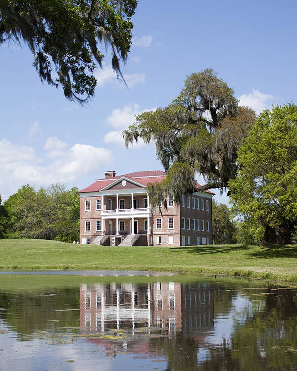 Historic Poster featuring the photograph Historic Drayton Hall In Charleston South Carolina by Dustin K Ryan