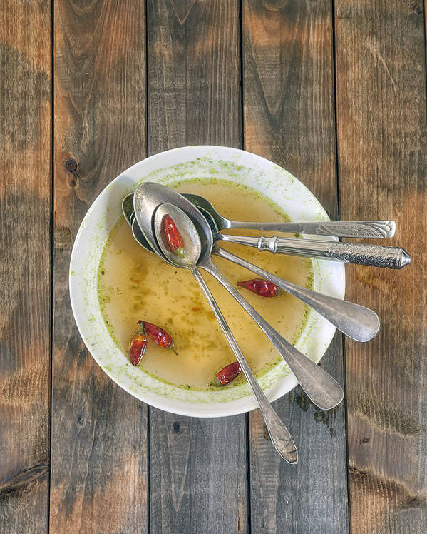 Spoon Poster featuring the photograph Hot Soup by Joana Kruse