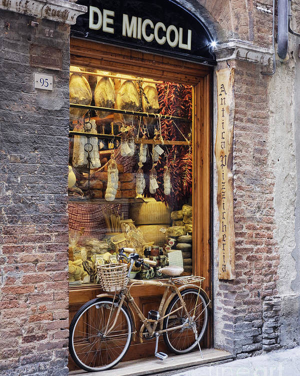 Architectural Detail Poster featuring the photograph Italian Delicatessen Or Macelleria by Jeremy Woodhouse
