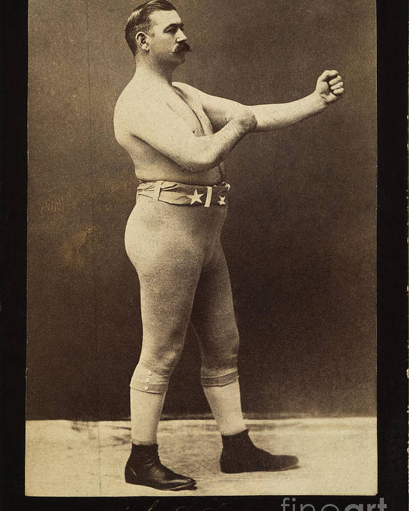 19th Century Poster featuring the photograph John L. Sullivan (1858-1918) by Granger