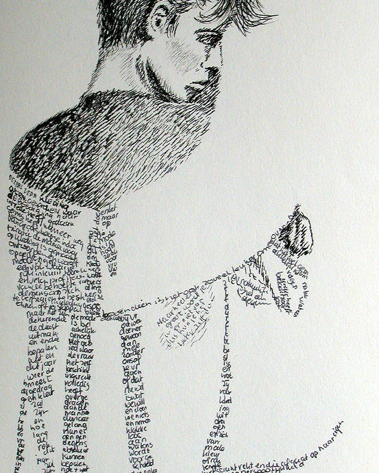 Language Poster featuring the drawing Language Of Cloth by Tanni Koens