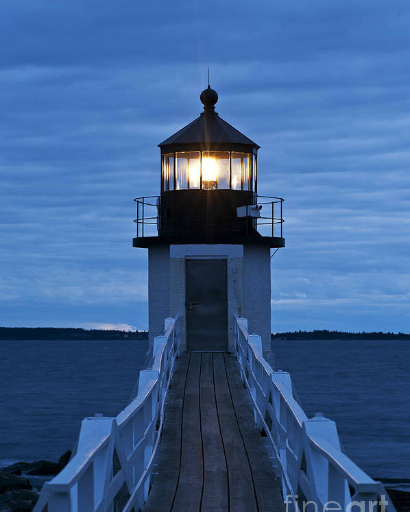 Maine Poster featuring the photograph Marshall Point Light by John Greim