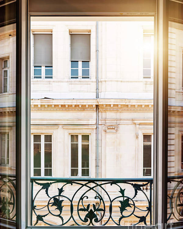 Window Poster featuring the photograph Open Window In Toulouse by Elena Elisseeva