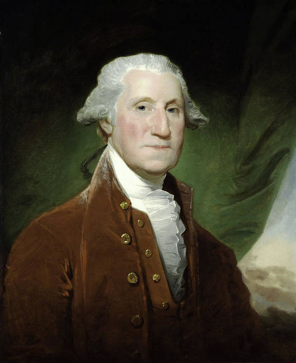 George Washington Poster featuring the mixed media President George Washington by War Is Hell Store