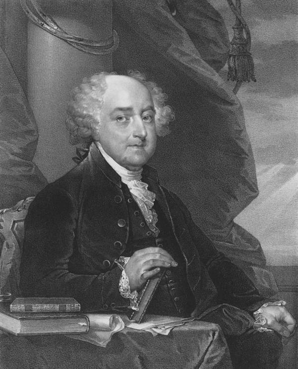 John Adams Poster featuring the drawing President John Adams by War Is Hell Store