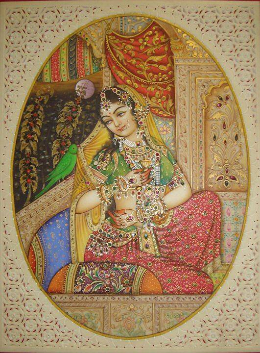 Indian Miniature Poster featuring the painting Princess by Devendra Sharma