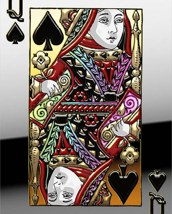 'it's A Gamble' Collection By Serge Averbukh Poster featuring the photograph Queen of Spades by Serge Averbukh