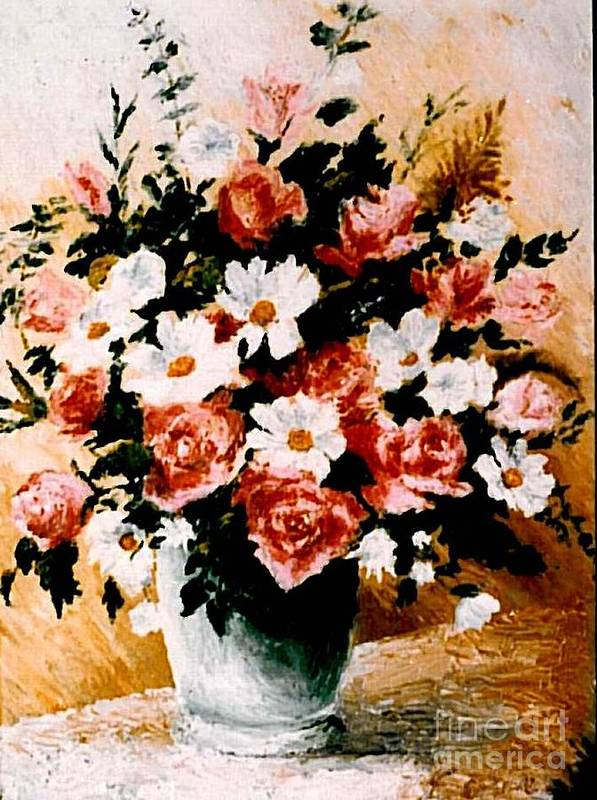 Roses Poster featuring the painting Roses by Sorin Apostolescu