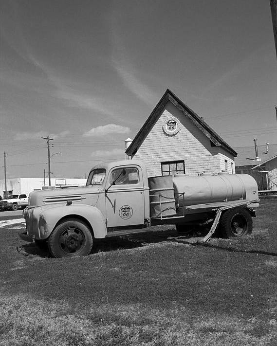 66 Poster featuring the photograph Route 66 - Mclean Texas by Frank Romeo