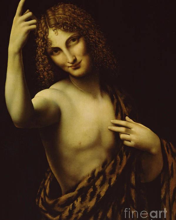 John The Baptist by Leonardo Da Vinci poster print