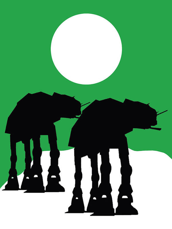 Atat Poster featuring the mixed media Star Wars At-at Collection by Marvin Blaine
