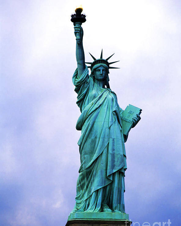 America Poster featuring the photograph Statue Of Liberty by Sami Sarkis