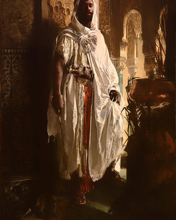Painting Poster featuring the painting The Moorish Chief by Mountain Dreams
