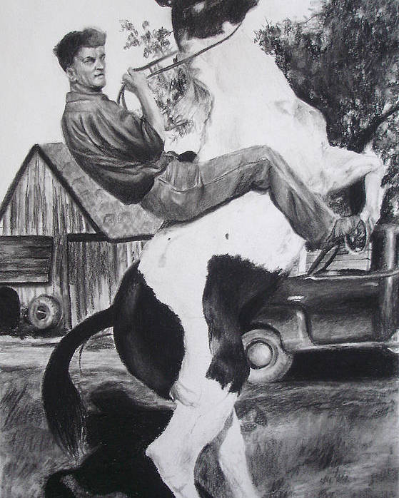 Horse Poster featuring the drawing Untitled by Darcie Duranceau