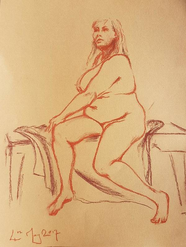 Life Drawing Poster featuring the drawing Untitled by Mira Cooke